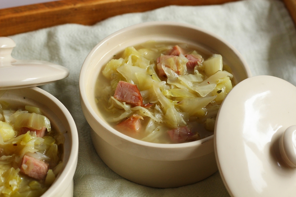 Cabbage, Ham and Potato Soup