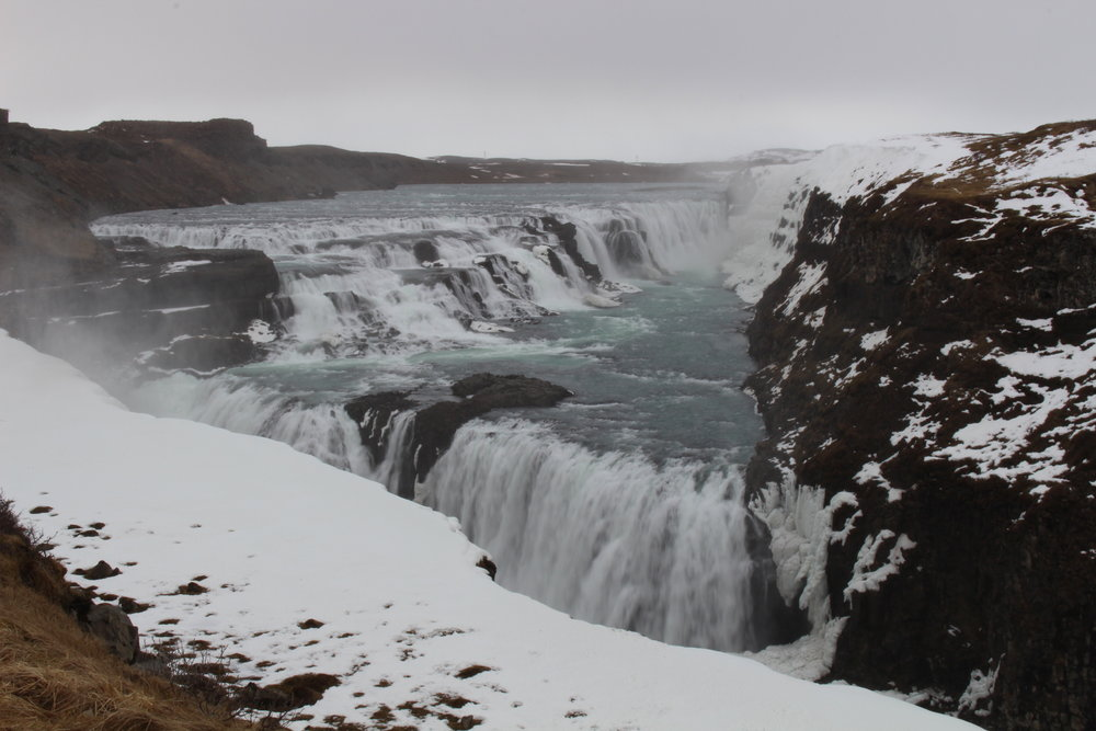 Gullfoss, waterfall at Hvitá River