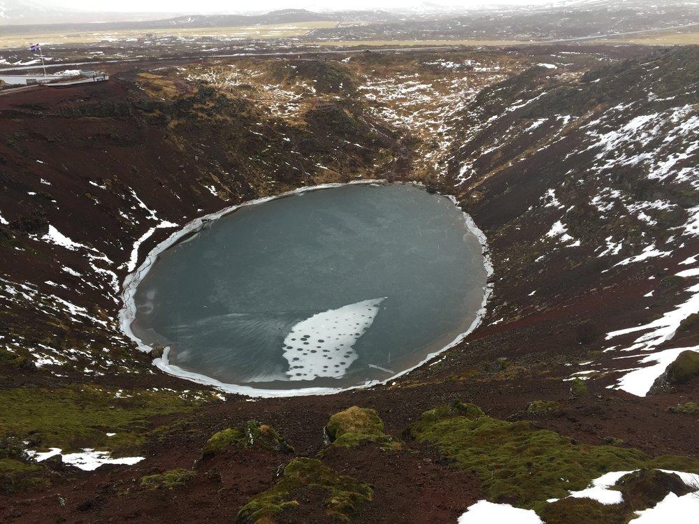 Kerið, Volcanic crater lake