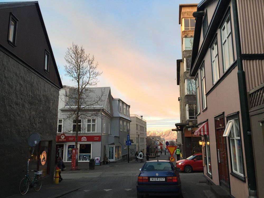 Last sunset in Reykjavik