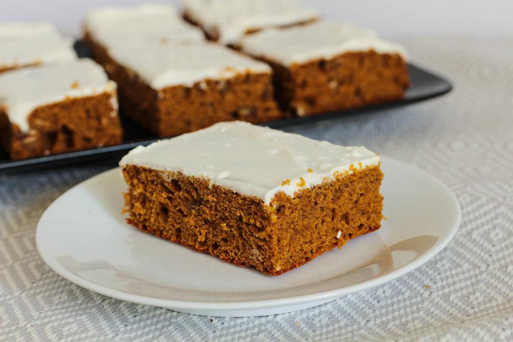 Pumpkin Pecan Protein Cake