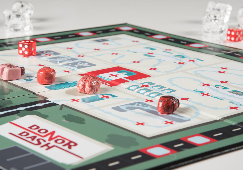 Donor Dash Board Game Design Sara Lowe - Board game design