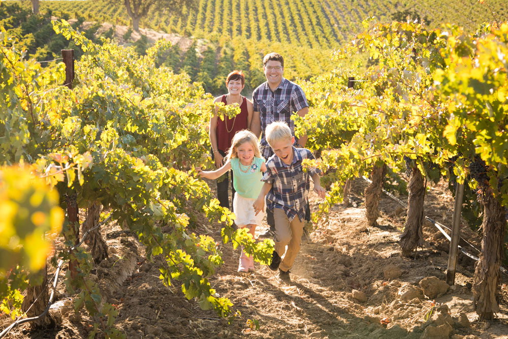 Paso Robles Vineyard Family Portrait Session