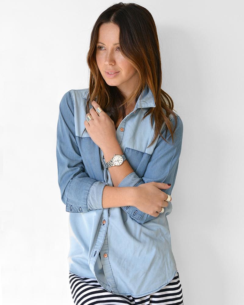Friend in Fashion, Watch, Ways to Wear, Denim Shirt, Casual Fashion, Rado