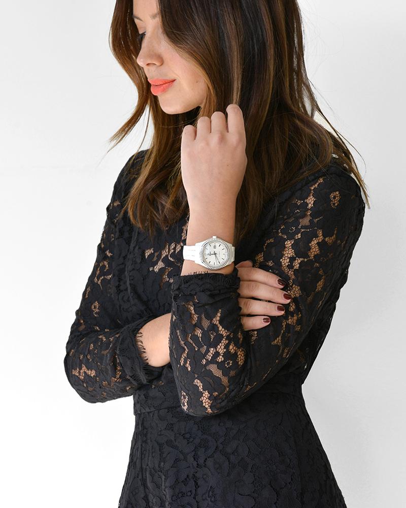 Friend in Fashion, Watch, Ways to Wear, Black Lace, Evening Wear, Rado, Diamonds