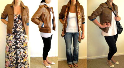 ways to wear leather jacket @ friendinfashion
