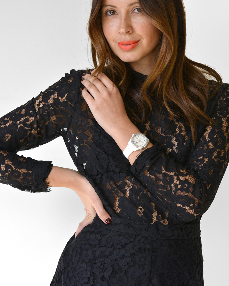 Friend in Fashion, Watch, Ways to Wear, Black Lace, Evening Wear, Rado, Diamonds