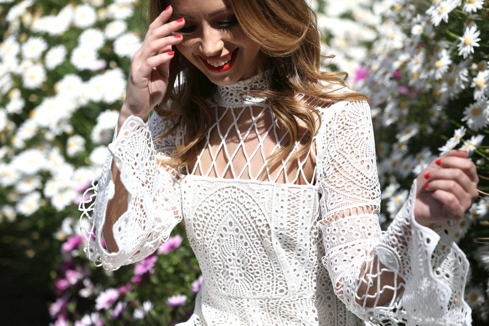 LILLA WHITE LACE DRESS ON WWW.FRIENDINFASHION.COM.AU
