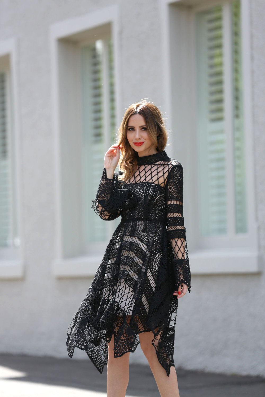 LILLA BLACK LACE DRESS ON WWW.FRIENDINFASHION.COM.AU