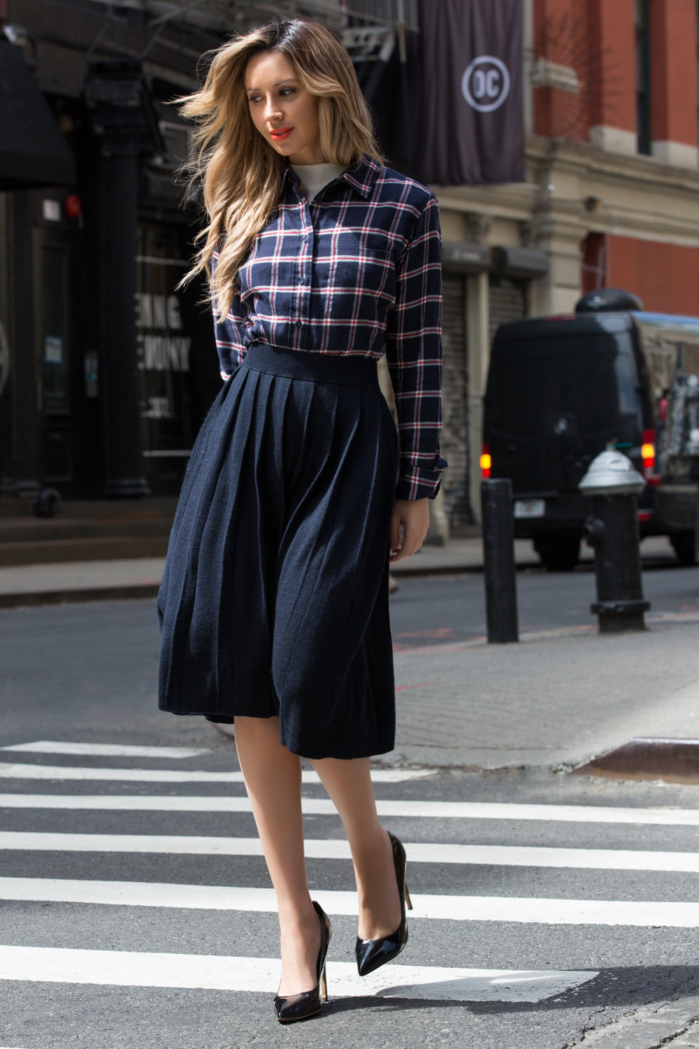 Plaid, Street Style, New York, Friend in Fashion