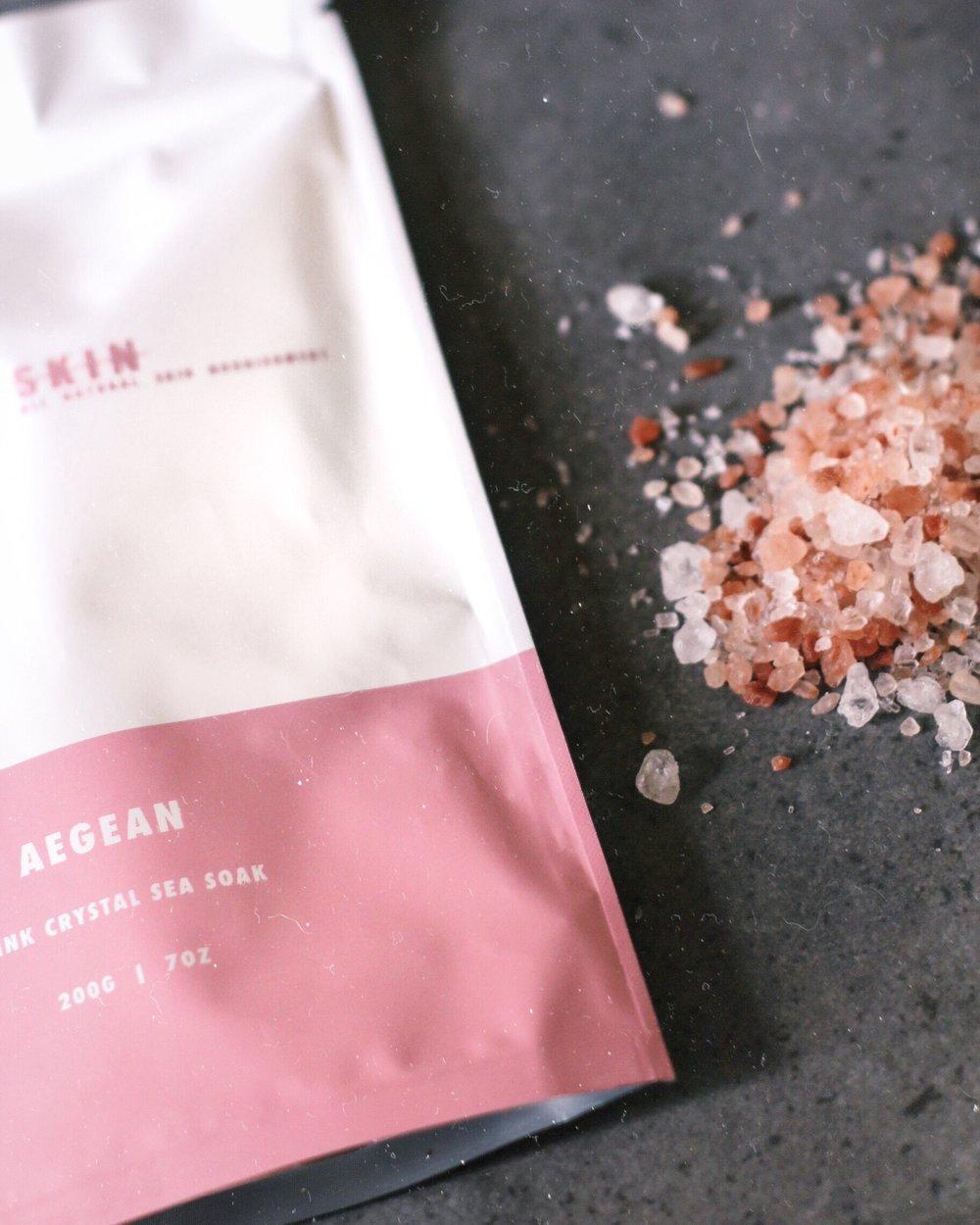 Santorini Skin Aegean Pink Crystal Sea Soak