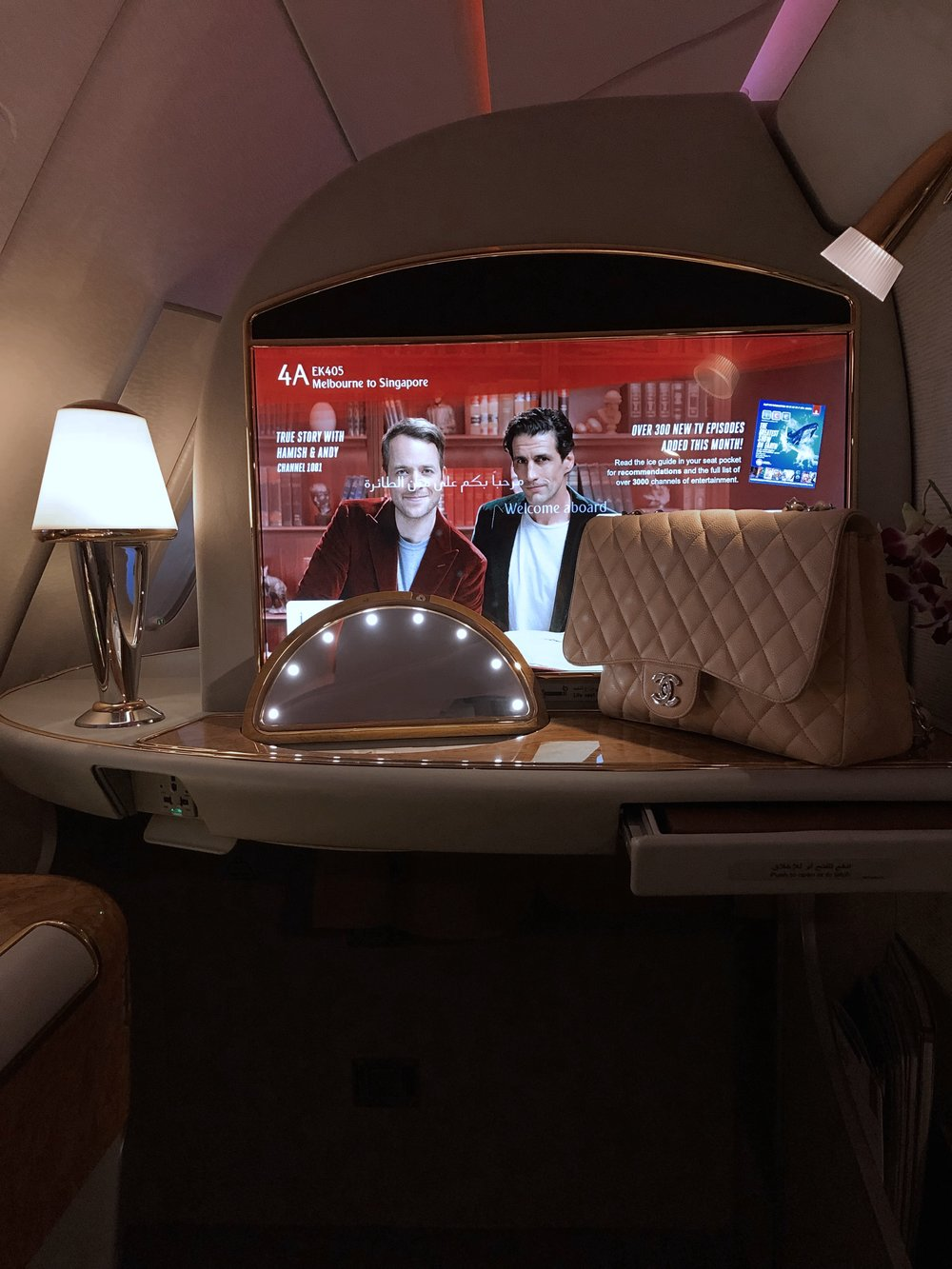 Emirates First Class on www.friendinfashion.com.au