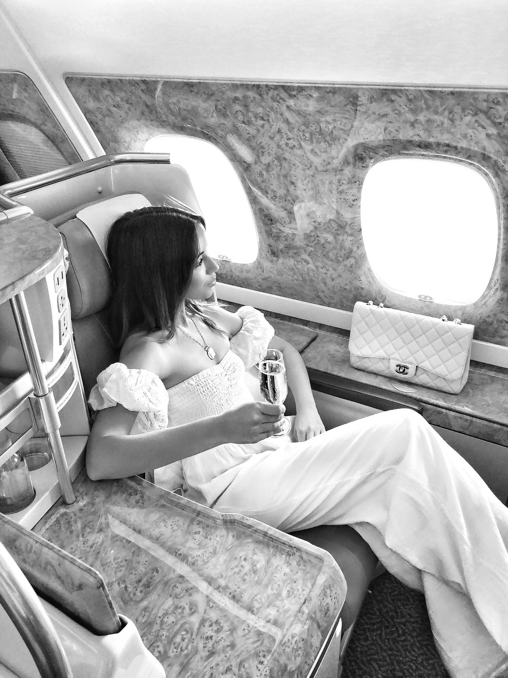 Emirates Business Class on www.friendinfashion.com.au