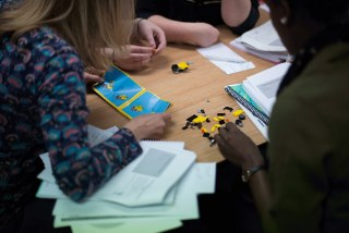 Using LEGO - Elements of LEGO-Based Therapy are used in Special FRIENDS to teach team building and build collaborative skills.