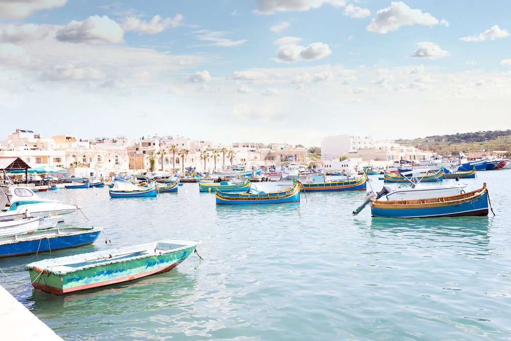 marsaxlok, fishing village malta, mediterranean, sea, fishing boats, colourful, village, swedish photographer in malta, portrait photographer