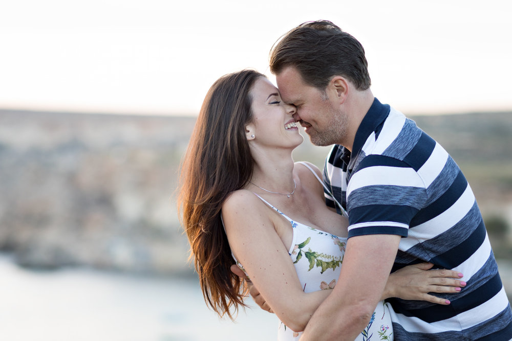 biggest love of all, whimsical happy playful couple svensk fotograf malta, father to be,
