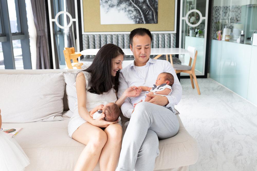 newborn photographer singapore lifestyle newborn session twin newborn session newborn photographer singapore