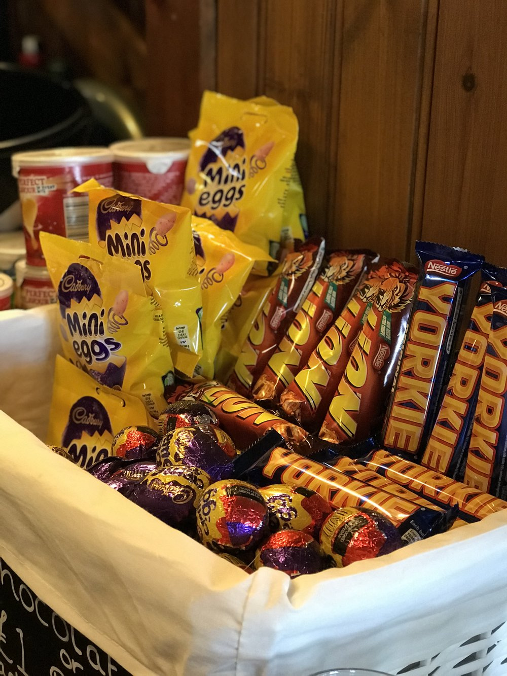 Feeling peckish?  We stock a selection of crisps, nuts & chocolate