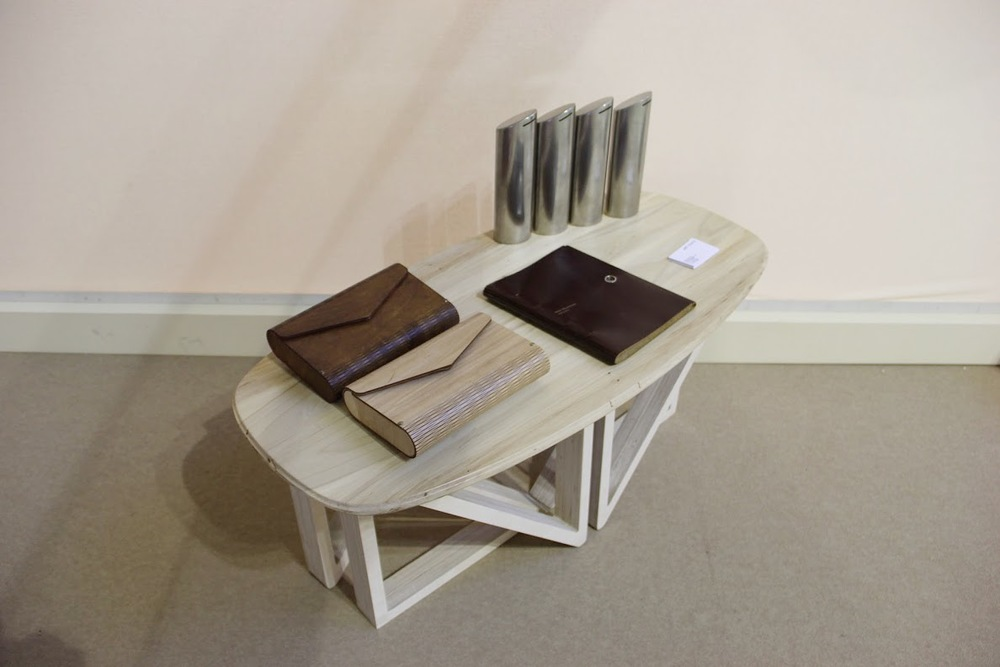 Table by Art Guild  Clatches (unisex) by Galym Kairalapov  Dreamboxes by art Guild  Notebook (lether) by Timur Aktaev