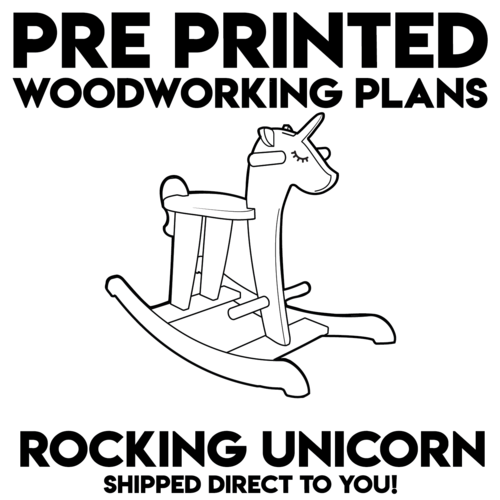 Pre Printed Rocking Unicorn Woodworking Plans Rivertown Woodcraft