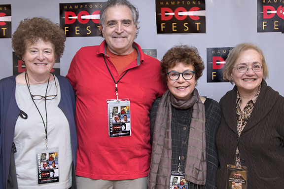 From left: Deborah Kooperstein, filmmaker Steve Wystrach, Jacqui Lofaro and Jamie Coy Wallace