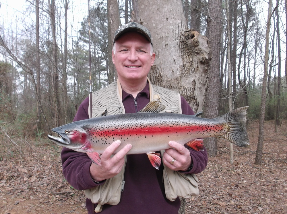 Larry Baker brings trophy trout back to his home state of Georgia from Upstate New York