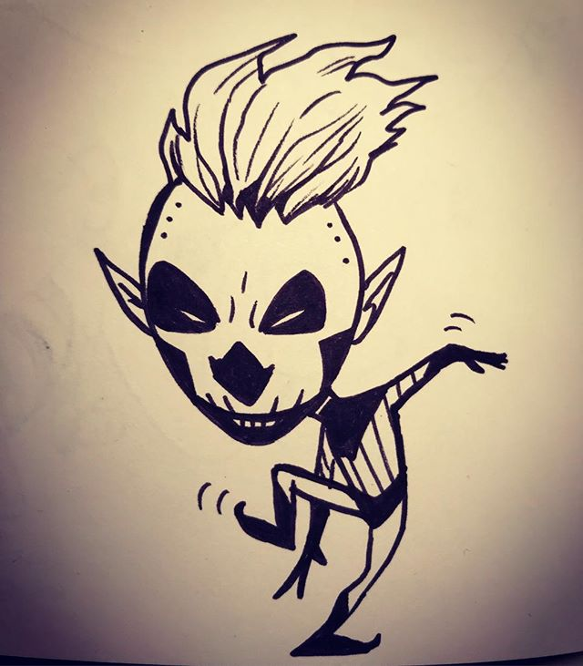 Dancing out of the darkness #drawing #sketchbook #skull #dancing #art #artist #characterdesign #design #carnival #cartoonist #comics #draw #motion #artistsoninstagram