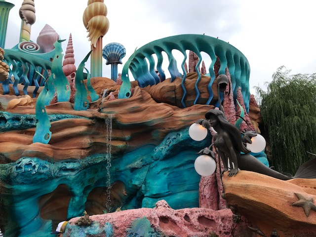 In front of the Mermaid Lagoon