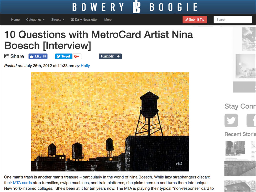 Bowery Boogie   » Read online
