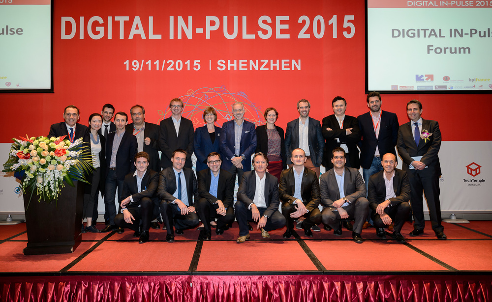 Les lauréats Digital IN-Pulse 2015, et la promo Acceleratech à Shenzhen