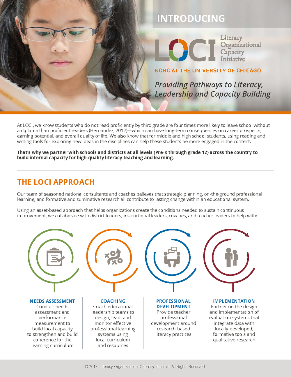 Brochure Designed for LOCI  -  Front