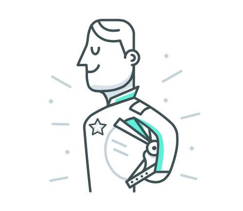 Ilustração de um astronauta segurando o capacete