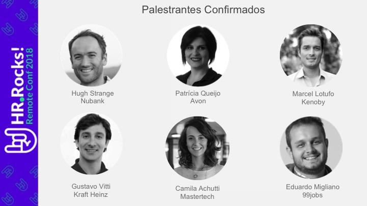 Palestrantes confirmados na HR.Rocks Remote Conf 2018