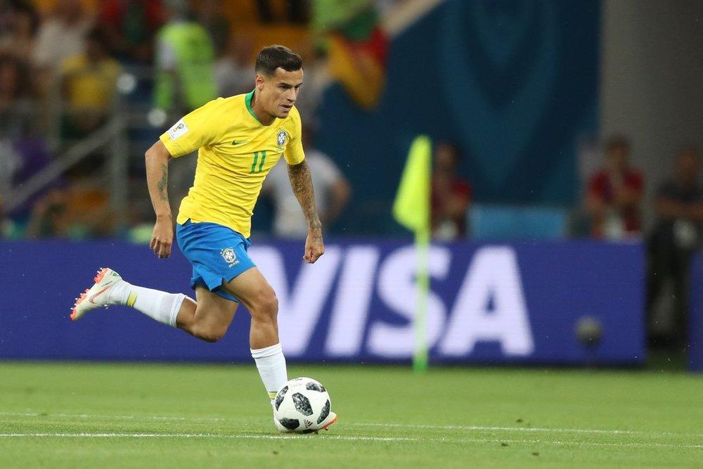 Philippe Coutinho na estreia do Brasil na Copa de 2018 (Lucas Figueiredo/CBF)