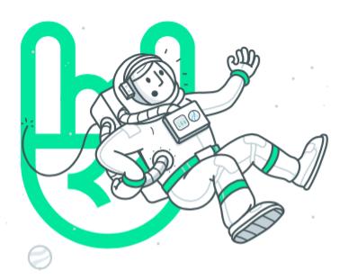 Astronauta em apuros