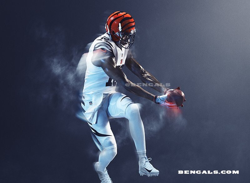 Seeing the Bengals rep an icy white with black and orange accents is stylish and refreshing. Nike did a great job of developing such a different look that still has the traditional feel.