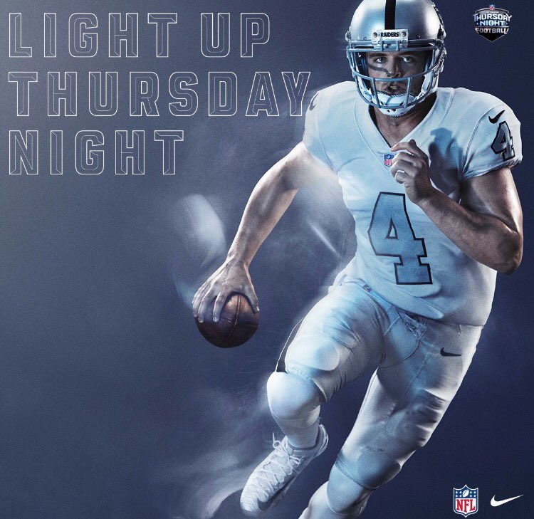 What a letdown. The Raiders could have put on solid black. They could have gone with solid silver. The whites with silver accents aren't bad and it is definitely classy but there could have been a more dynamic combination put together.