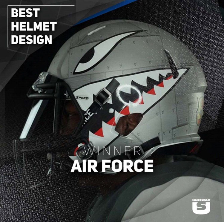 Best Helmet Design Winner: Air Force