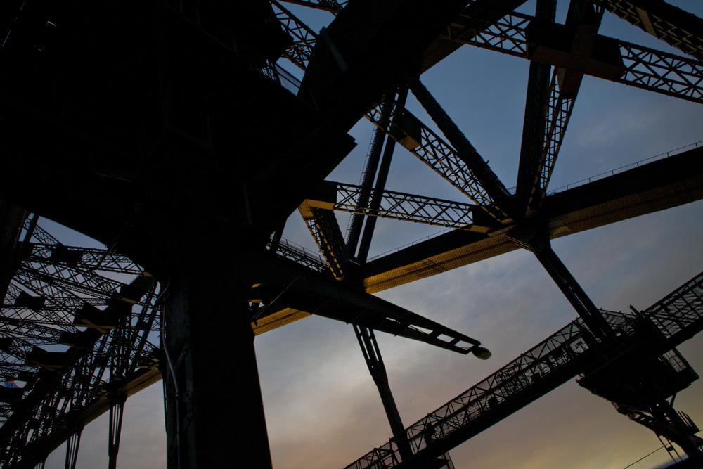 Underside of Sydney Harbour Bridge Australia