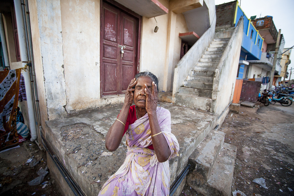 Women looses her daughter, Pondicherry India