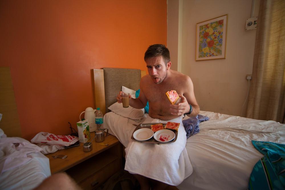 Richard does'nt like the jam, Mumbai India