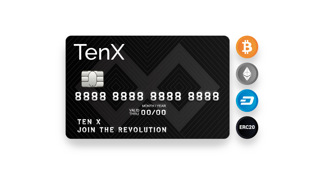 (Not Available in USA) The TenX wallet and card have been tested by well-known figures in the industry with payments in 50 countries across the world. Available now on iOS, Android, and the web.  What you see is exactly what you get. No complicated fees. Use blockchain assets with the same convenience like your local currency. The minimum fee lets you convert and spend your assets with your mind at ease whether locally or when you are abroad.  TenX supports blockchain assets across multiple blockchains. Currently supported is Bitcoin. Ethereum, Ethereum ERC20 Tokens (DGX REP, TRUST, ANT, etc.), and DASH are in closed beta testing.  You are the holder of the DSS key and in full control of your funds. You can fine tune your security settings at anytime with the smart contracts. From spending limits, Daily Limits, Portfolio Spending, Withdrawal setting etc.