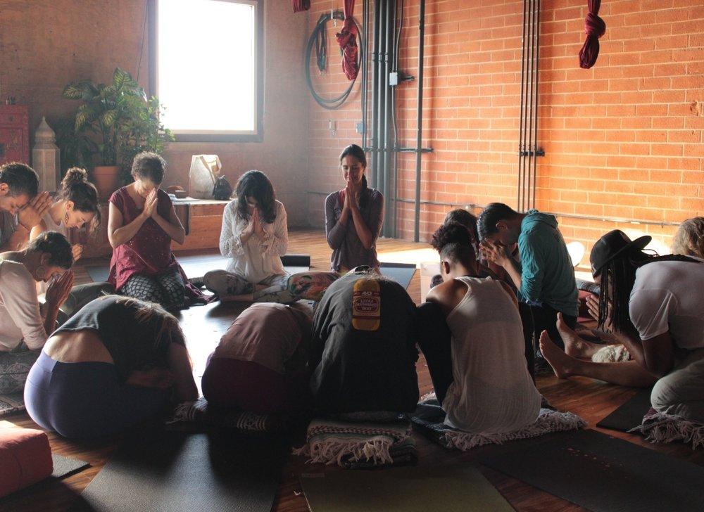 Tah class yoga ceremony