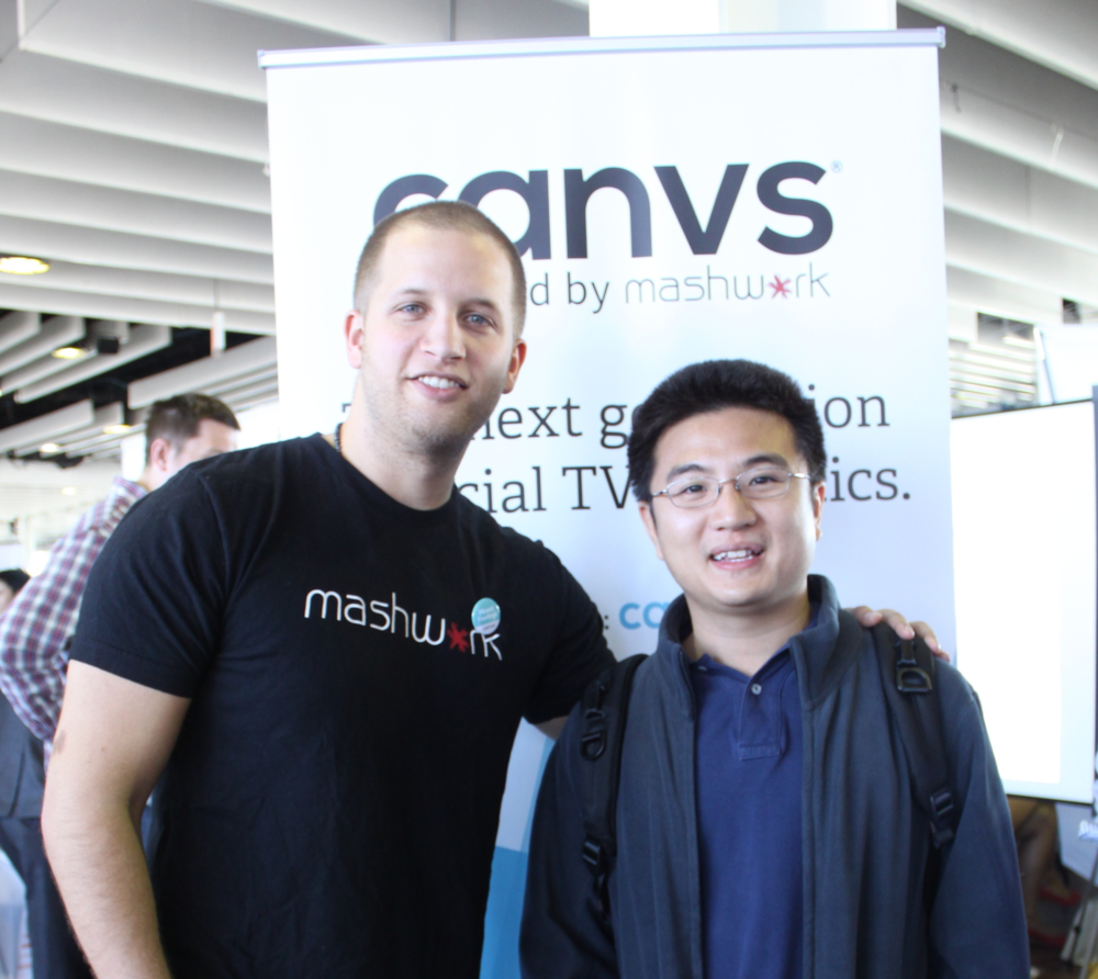Jared Feldman and Sam Hui, Ph.D at the 2014 Canvs launch