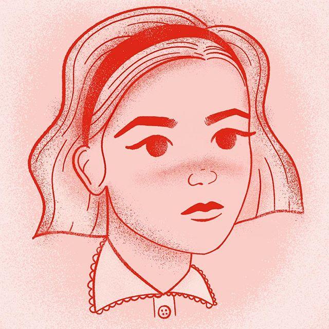 Watching Sabrina all weekend ✨ kind of obsessed. . . . . . . . #netflix #sabrina #doodle #illustration #womenwhodraw #ipadart #procreate #halloween #inktober2018 #inktober