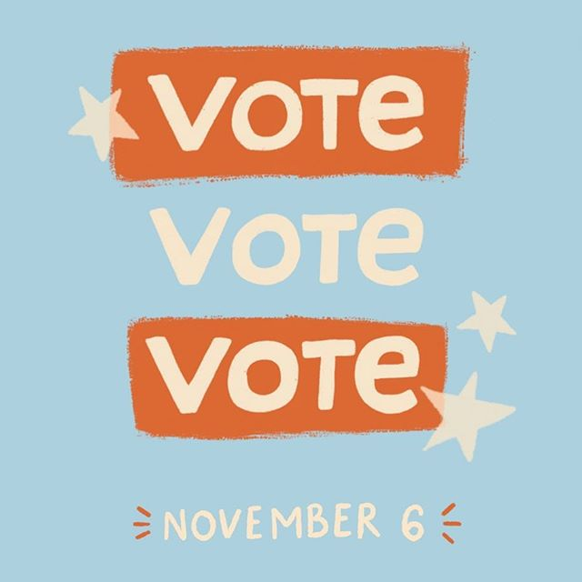 Next Tuesday! Don't forget ✨ . . . . . . #vote #kcmo #kansascity #clairemccaskill #thisiswhatdemocracylookslike #democracy #usa #remembertovote #election2018 #lettering #womenwhodraw #designer #handlettering #illustration @rockthevote @whenweallvote @clairecmc