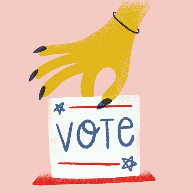 tomorrow! go vote! . . . . . . . . #vote #midterms #bluewave #election2018 #illustration #womenwhodraw #doodle #illustration #ballot