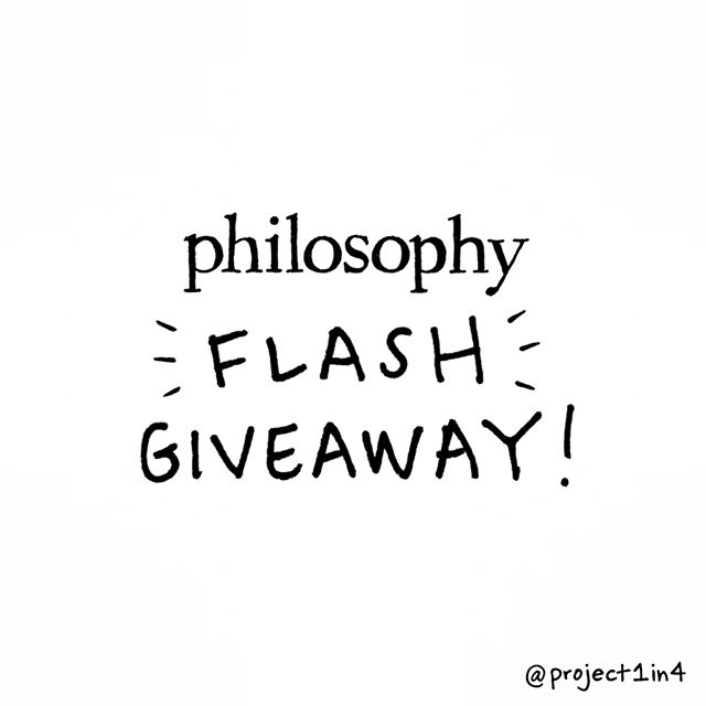 It's FLASH GIVEAWAY time! - We can't get enough of our favorite @lovephilosophy products so thought we'd have some fun with some flash giveaways this summer! Today we're giving away philosophy's award winning purity cleanser! - P.S. Did you know @lovephilosophy donates 1% of its sales to support community-based mental health efforts? 🙌💚 - HOW TO WIN: 1) Follow @project1in4 and @lovephilosophy 2) Like this post & comment with 💚 3) Bonus: Tag a friend for extra entries! (1 tag = 1 entry) - Winner will be announced today June 23rd at 11pm CST. - #lovephilosophy #hopeandgrace #giveaway #mentalhealth #love #support #mentalhealthawareness - This giveaway is in no way sponsored by Instagram.