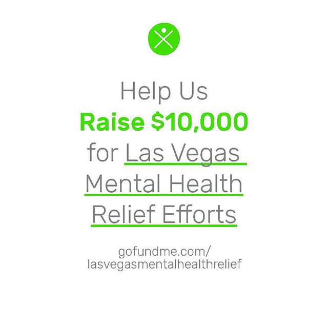 *UPDATE* We are excited to share that we are 15% closer to our goal of raising $10,000 to support Las Vegas Metal Health Relief Efforts! 💚💚💚 - We want everyone to know that ANY donation is appreciated...TRULY...even if it's $5 in lieu of your morning Starbucks 🙅☕️ (sorry, Mr. Schultz! 😬). - Please know that through your donation, *YOU* will be a part of something much bigger than all of us, and *YOU* will be a part of making a REAL difference in the lives of those forever changed by this horrific, unspeakable tragedy. - Last but not least, THANK YOU to all who have generously donated since the campaign launch. We really cannot thank you enough 🙏💚 - #VegasStrong #mentalhealth #goodcause #love #support #community