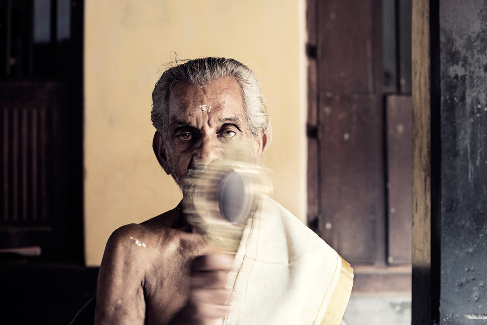 """I have realised that ever so often, those who have less are the ones who give more.""- Raja Raja Varma , 76 years old"